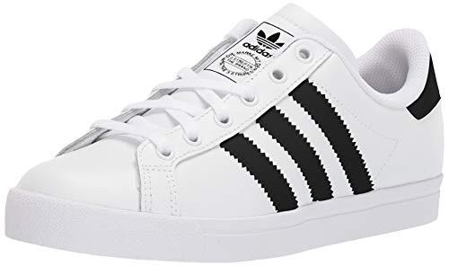 adidas Originals Unisex-Kid's Coast Star Sneaker, White/Black/White, 7