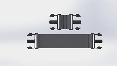 Pigro Felice Extra (6 Long & 4 Short Clips), Black, 62x32x11 cm