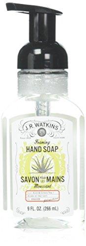 JR Watkins Aloe and Green Tea Foaming Hand Soap 9 Ounce