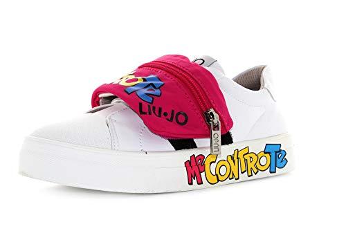 Liu Jo Me Contro Te Sneakers con Astuccio Rimovibile Bianco Fuxia, 26
