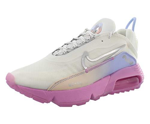 Nike Womens AIR MAX 2090 Casual Shoes, Summit White/Metallic Silver, 8 US