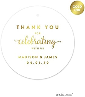 personalized thank you tags for wedding favors