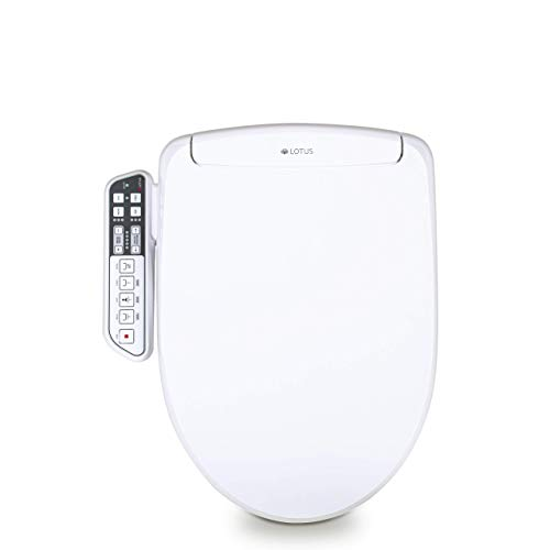 Lotus Smart Bidet ATS-500 FDA Registered, Heated Seat, Temperature Controlled Wash, Warm Air Dryer, Easy DIY Installation, Made in Korea, One Size Fits Elongated And Round