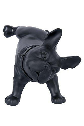 Dila GmbH Französische Bulldogge Dekofigur Figur Dekohund Hund Dekoartikel Skulptur (Schwarz)