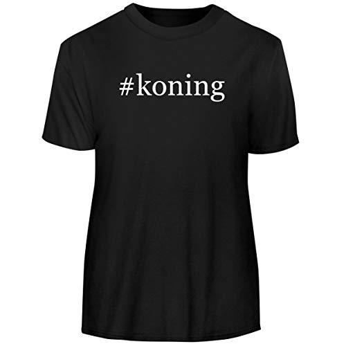 One Legging it Around #Koning - Hashtag Men's Funny Soft Adult Tee T-Shirt, Black, Large