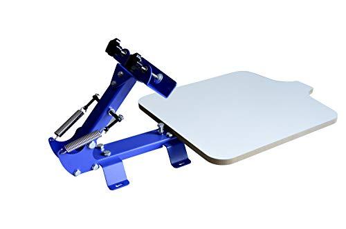 Techtongda 1 Color Screen Printing Press Kit Machine 1 Station Silk Screening Pressing DIY
