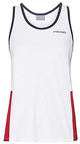 Head Camiseta de Tirantes para Mujer, Mujer, Camisetas, 814429-WHRDXS, Weiß (White/Rot), Extra-Small