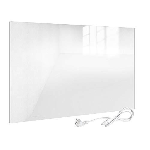 Viesta Infrarotheizung Glas, weiß-Heizpaneel mit höchstem Wirkungsgrad dank Carbon Crystal Technologie, H450-GW