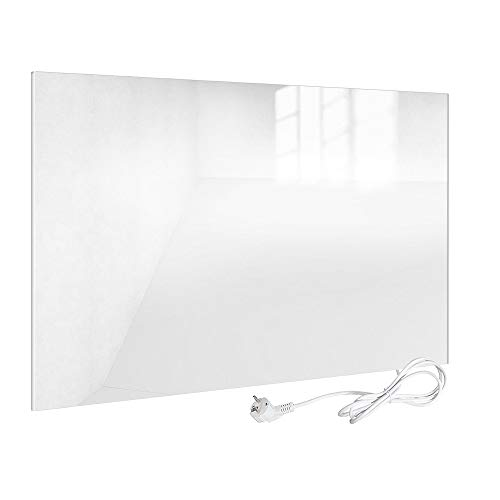 Viesta H450-GW Infrarotheizung Glas 450 W, weiß - Heizpaneel mit höchstem Wirkungsgrad Dank Carbon Crystal Technologie - Flache Glasheizung aus Sicherheitsglas - Elektroheizung mit Überhitzungsschutz