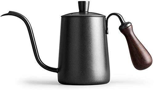 600ml Koffiezetapparaat Pot van de Koffie van het Roestvrij karaf for Home Hotel Office met massief houten handvat en ontluchten Hole Geen slechte plastische Taste Ideal aijia