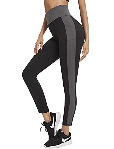 Sykooria Leggings Sportivi da Donna Leggins Pantaloni Sportivi Donna Morbido Leggings Donna Fitness Elastici Leggings da Yoga con Tasche per Fitness Sport