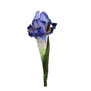 Silk Flower Arrangements 10/6pcs Real Touch Iris Artificial Flowers for Wedding 68cm Fabric Decorative Fake Flowers Table Decoration Accessories-Blue purple-6Pcs