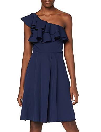 Chi Chi London Damen Chi Rain Dress Kleid, Blau (Navy Navy), 40 (Herstellergröße: UK 14)