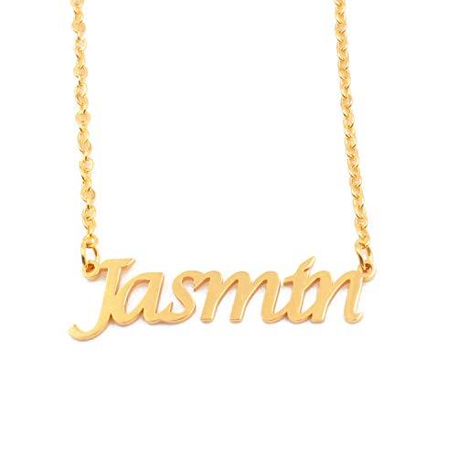 Kigu Jasmin Personalisierte Namens-Halskette verstellbar – 18 Karat vergoldete Verpackung