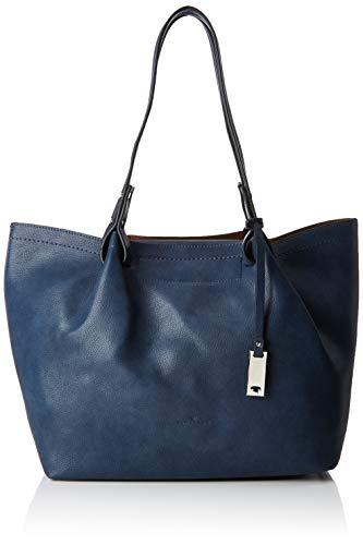 TOM TAILOR Shopper Damen, Vicki, Blau, 39x28x13 cm, Schultertasche, Tom Tailor Handtaschen Damen