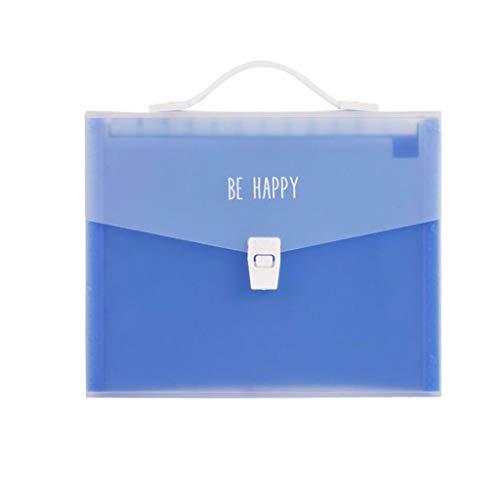 Aktentasche, Organtasche 13 A4 Tragbare Mappe, Mehrschichtige Aktentasche Notiz-Aufbewahrungstasche Test-Büroklammer Tragbare Aufbewahrung for Zuhause/Büro Mit Henkel Aktentasche