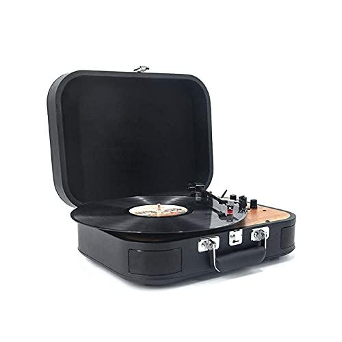 NCRD Giradischi Bluetooth Record Player Giradischi a 3 velocità, Giocatori Vintage in Vinile da Incasso 2 Altoparlanti Stereo integrati, Adatto per Record 7/10/12 Pollici