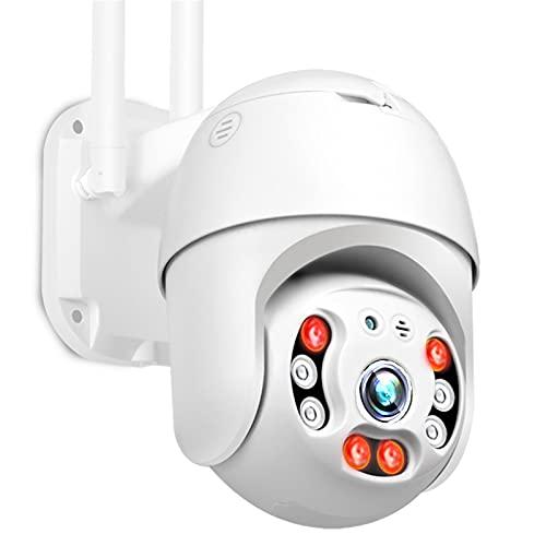 Cámara IP WiFi 1080P, cámara PTZ de seguridad inalámbrica de 2MP HD para exteriores, cámara de vigilancia de domo de velocidad mini, cámara P2P de audio bidireccional inteligente,Cam+64g