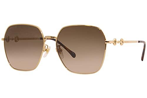 Gucci Gafas de Sol GG0882SA Gold/Brown Shaded 60/16/145 mujer