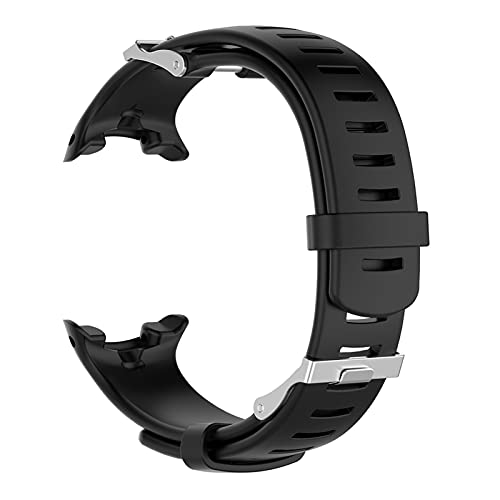 XIXI-Home Reloj de reemplazo de Silicona Reloj de Reloj Correa de Pulsera Ajuste para Suunto D4 D4i Novo Reloj de Buceo con Herramienta Accesorios de Reloj Inteligente (Color : Black)