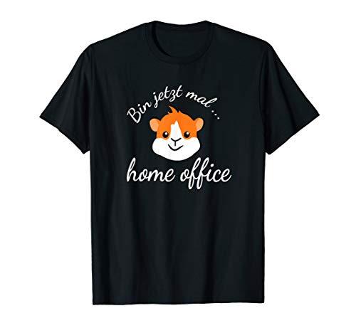 Social Distancing in Quarantäne im Homeoffice mit Hamster T-Shirt