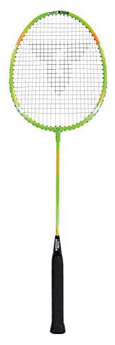 Talbot Torro Raquette de Badminton Fighter, pour Débutants, Tige en Acier Robuste et Trempé, Tête en Aluminium Léger, Vert/Orange, 429807