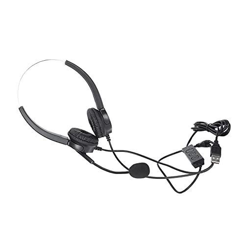 ROMACK Auriculares de teléfono, Auriculares de comunicación Suaves con reducción de Ruido para Servicio al Cliente