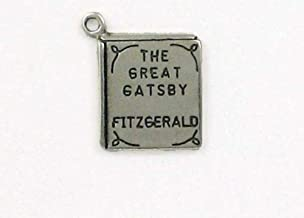Sterling Silver '',The Great Gatsby'', Book Charm - Jewelry Accessories Key Chain Bracelet Necklace Pendants