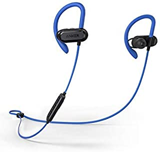 Soundcore Spirit X Sports Earphones by Anker, with Wireless Bluetooth 5, 12-Hour Battery, IPX7 SweatGuard Technology, Secure Fit for Sport and Workouts, with Mic (Blue)