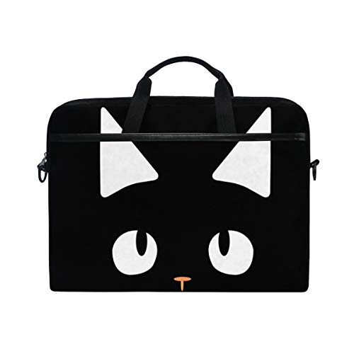 Chic Houses Cute Cat Laptop Bag Case Sleeve for Men Women Animal Pattern Computer Protect Case Creative Design Waterproof Shoulder Messenger Bag 2030008
