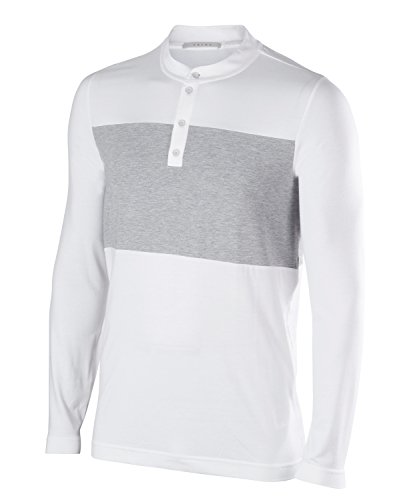 Falke 37826 Polo Homme, Blanc, FR : L (Taille Fabricant : L)