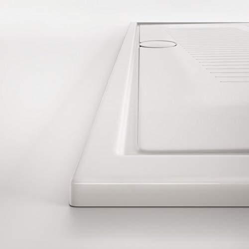HATRIA LIF H3 Piatto Doccia in Ceramica Ultrasottile H 3 cm (Piletta H 60 con tappo Bianco)