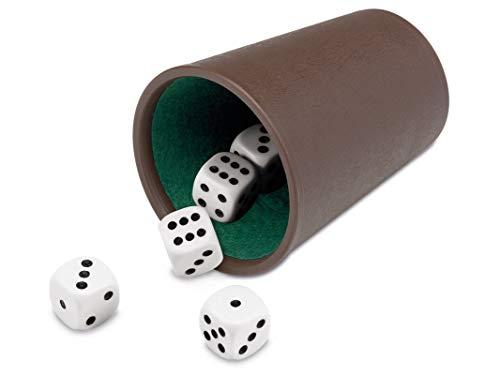 Cayro - Cubilete Forrado y Dados Puntos - Desarrollo de Habilidades cognitivas e inteligencias múltiples - Casino (073/1)