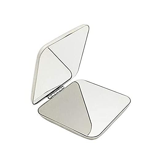 Folding Mirror Shatterproof Stainless Steel Ultra-thin Folding Portable Makeup Mirror Is Not Fragile Camping Mirror For Personal Use,Travel,Emergency Signals