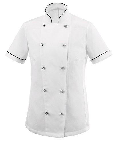 tessile astorino Giacca Cuoco Basic, Modello Donna, Manica Corta, Offerta Promozionale, (XS)
