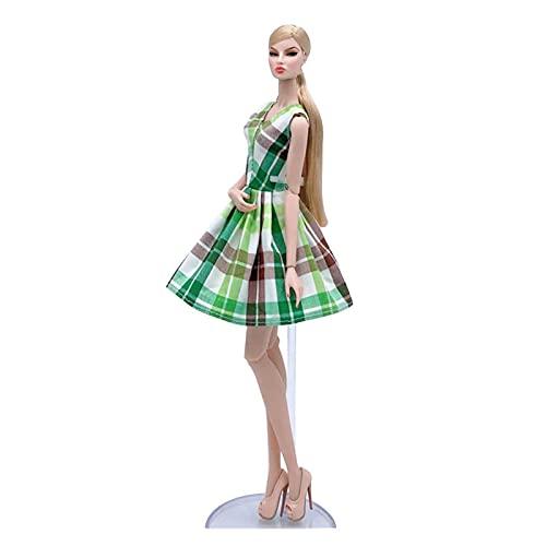 Ropa de muñeca de Moda Floral Azul para la muñeca de Barbie Tutu Trajes de Vestir Vestido de Fiesta 1/6 Accesorios de muñeca Juguetes para niños Ventana Decoración Artesanías Lindas articulaciones