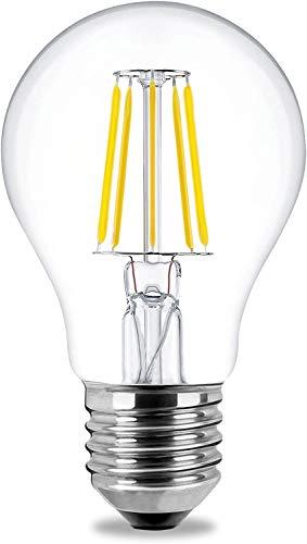 Lampadina LED E27 7,5 W DELIXI, luce bianca calda, angolo di diffusione 360°, 806 lumen, 3000 K, non dimmerabile