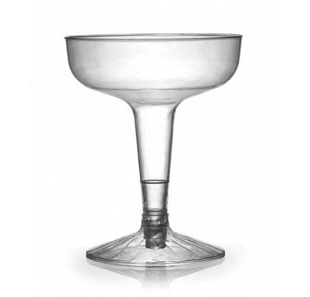 40 copas de champán reutilizables de plástico duro, transparentes, 100 ml
