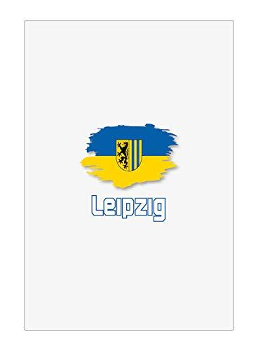 Tipolitografia Ghisleri Handtuch, Strandtuch, Handtuch Leipzig mit Flagge 48