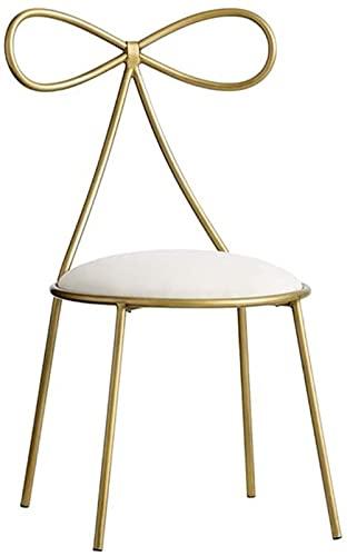 Gold Restaurant Stuhl Creative Butterfly Krawatte Stuhl Restaurant Cafe Dekoration Stuhl Mädchen Schlafzimmer Make-Up Stuhl Nagel Stuhl 40 * 40 * 80CM Gold-Gold