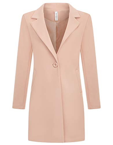Zarlena Damen Mantel klassischer Female Trenchcoat Made in Italy Rosé XL