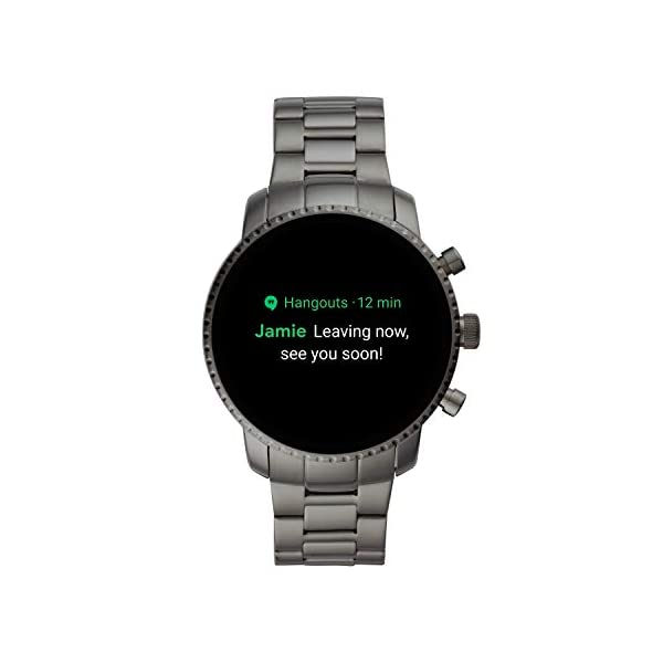 Fashion Shopping Fossil Men's Gen 4 Explorist HR Stainless Steel Touchscreen Smartwatch with