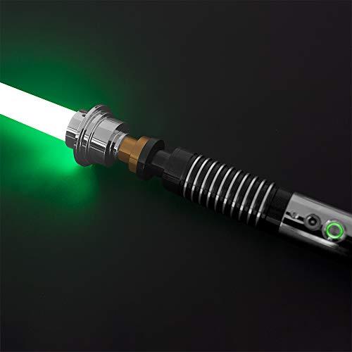 YDD GENIUS YDDSABER Lightsaber Green LED Light Saber Force FX Metal Aluminum Hilt Heavy Dueling Blaster Sound