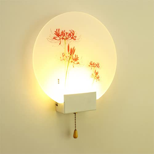 FMGR Aplique Pared Interior LED Lámpara De Pared Moderna para Salon Dormitorio Sala Pasillo Escalera,Luz Amarilla 6W, Tamaño 24Cm,Flesh