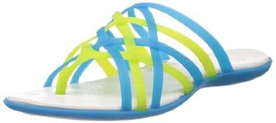 crocs Women's Huarache Multi and Geranium Rubber Flip-Flops and House Slippers