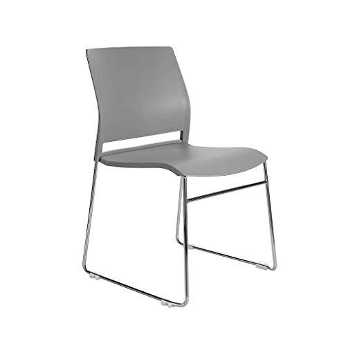 Lqfcjnb Grau stapelbare Stühle, Plastik, einfach zu reinigender Sessel abzutreffen Training Tisch- und Stuhl-Rezeptionsstuhl (Color : Gray)