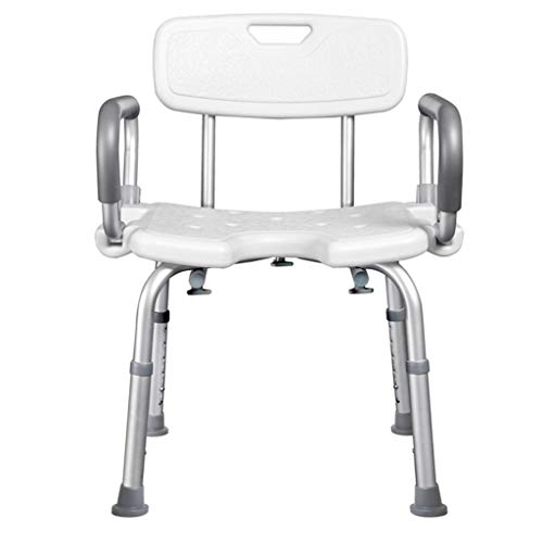 Ouderen Bath Chair douchestoel mindervaliden Douche Bad Toilet Leuning Mobile Toilet met toilet dual-use (Size : A)
