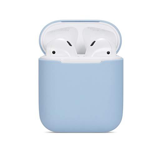 Lajer Airpods Schutzhülle kompatibel mit Apple AirPods Silikon TPU+PC Schlank Leicht Airpods Hülle Apple Wireless Headphone Case, Apple AirPods, A-blau