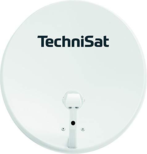 TechniSat TECHNITENNE 60 Satelliten-Schüssel für 2 Teilnehmer (60 cm digital Sat Anlage, Komplettset aus Antenne mit Masthalterung und Universal-Twin-LNB) lichtgrau