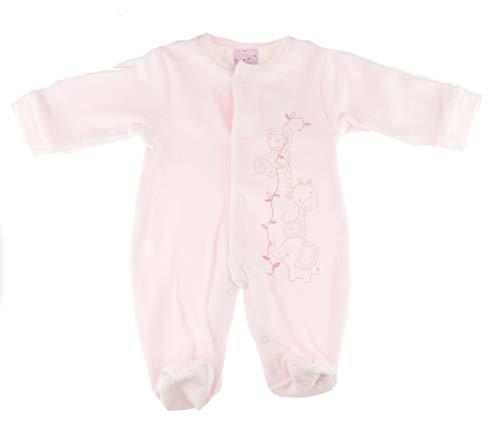 Baby Superweiche Baumwolle Mädchen Jungen Samt Strampler Schlafanzug All In One Monkey Rosa (Tiny Bany 50)